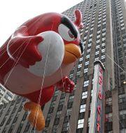 Illustration: Angry Birds-ballong på Manhattan. TT