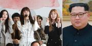 """K-pop-bandet """"Red Velvet"""" är en del av den sydkoreanska musikerskaran som åker till Nordkorea."""