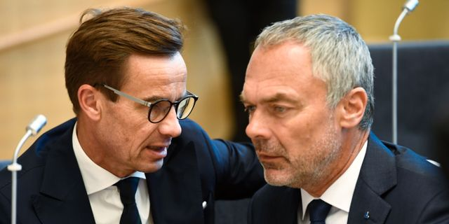 Ulf Kristersson (M) och Jan Björklund (L). Henrik Montgomery/TT / TT NYHETSBYRÅN