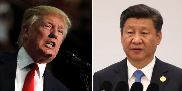 Donald Trump, Kinas president Xi Jinping.