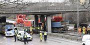 Olyckan skedde i Fruängen i södra Stockholm. Henrik Montgomery/TT / TT NYHETSBYRÅN