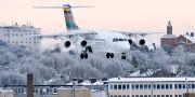 BRA-plan landar på ett Bromma i vinterskryd. Arkivbild. Johan Nilsson/TT / TT NYHETSBYRÅN