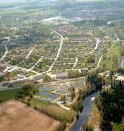 Flygbild över Tidan-området i Tibro Jernchar/Wikimedia Commons