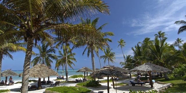 Fantastiska Breezes Beach Club & Spa på Zanzibar.