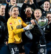 Göteborg tog hem seger i årets damallsvenska. Björn Larsson Rosvall/TT / TT NYHETSBYRÅN