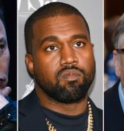 Elon Musk, Kanye West och Bill Gates var tre av de drabbade. TT