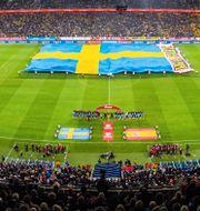Bild från EM-kvalmatchen mot Spanien den 15 oktober. JOEL MARKLUND / BILDBYRÅN