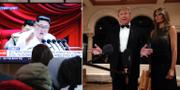 Kim Jong-Un, Donald Trump, Melania Trump. TT