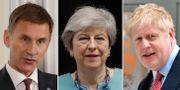 Jeremy Hunt / Theresa May / Boris Johnson.  TT