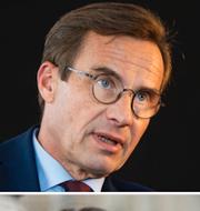 Ulf Kristersson och Matilda Ekeblad. TT