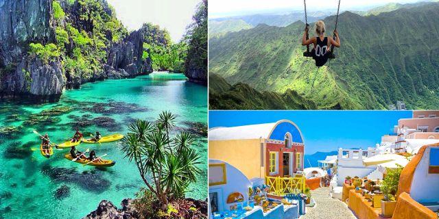 Palawan, Kauai och Santorni är tre av världens vackraste öar, enligt en årets stora undersökning av Travel & Leisure. Istock / Wikicommons