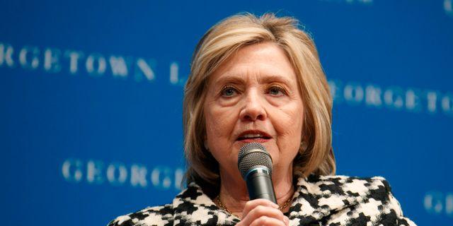 Hillary Clinton. Jacquelyn Martin / TT NYHETSBYRÅN