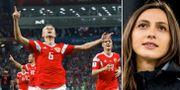 Ryska fotbollslandslaget/VM-guldmedaljören i höjdhopp Marija Lasitskene Bildbyrån