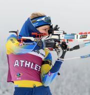 Stina Nilsson på skjutvallen. DEUBERT / BILDBYRÅN