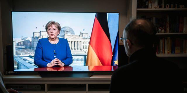 Angela Merkel. Fabian Strauch / TT NYHETSBYRÅN