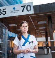 Sofia Lindström är ordförande i Vårdförbundet i Uppsala. Stina Stjernkvist/TT / TT NYHETSBYRÅN