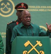 Avlidne ex-presidenten John Magufuli. TT NYHETSBYRÅN