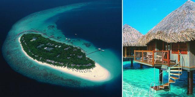 Reethi Beach Resort har Maldivernas billigaste vattenbungalower. Men de allra billigaste ligger i Malaysia, enligt en ny prisjämförelse. Reethi Beach Resort