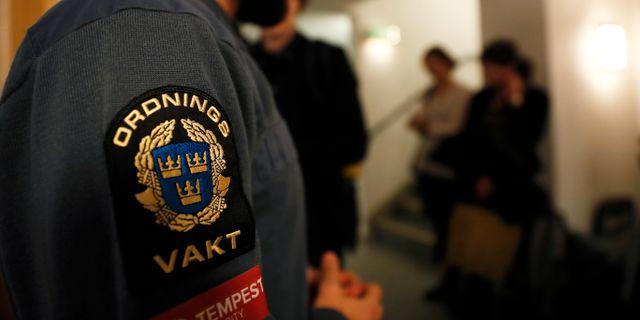 Rättegången hålls i säkerhetssalen i Stockholms tingsrätt Nils Petter Nilsson/TT / TT NYHETSBYRÅN