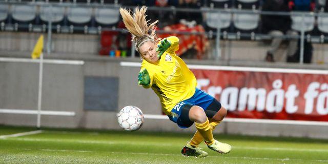 Linköpings målvakt Hilda Carlén. Stefan Jerrevång TT   TT NYHETSBYRÅN.  Womens Champions League 1ac01ec8f2d4a