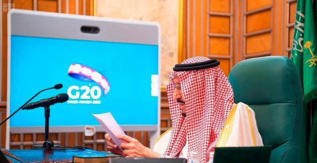 Kung Salman bin Abdul Aziz leder G20-mötet TT NYHETSBYRÅN