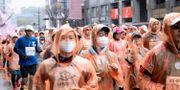 Maratonlöpare. Inför Tokyo maraton har organisatörerna stängt ute allmänheten för att minska risken för smittspridning.  TT NYHETSBYRÅN