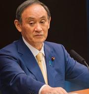 Stefan Löfven och Japans premiärminister Yoshihide Suga.  TT