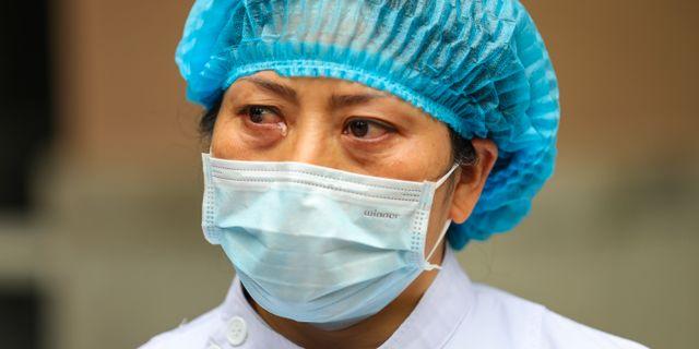Sjuksköterska i Wuhan. TT NYHETSBYRÅN