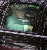 Donald Trump åker från sin golfbana i Sterling, Virginia, 28 oktober.  MIKE THEILER / TT NYHETSBYRÅN