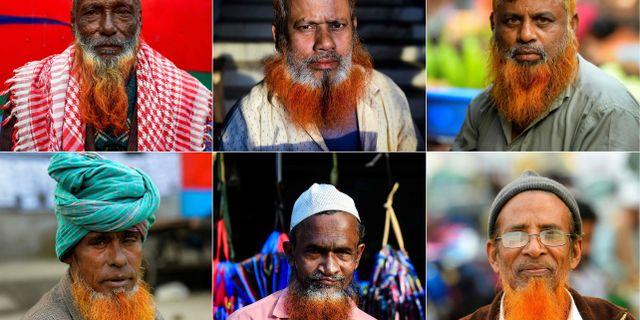 Moderiktiga män i Bangladesh. MUNIR UZ ZAMAN / AFP
