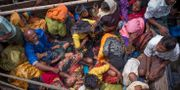 Arkivbild: Rohingyaflyktingar anländer med båt till Bangladesh efter att ha flytt våldsamheter i Myanmar.  ADIB CHOWDHURY / AFP
