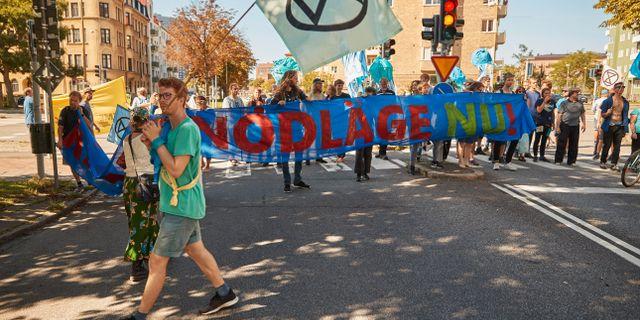 Demonstranter i Malmö. Andreas Hillergren / TT NYHETSBYRÅN