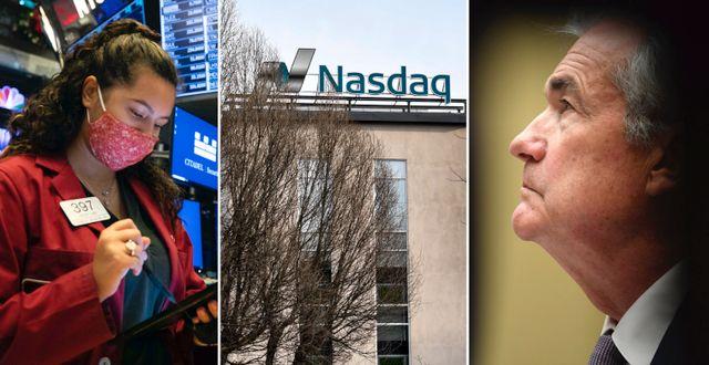 Arkivbilder. Börsmäklare på Wall Street, Stockholmsbörsen, Fed-chefen Jerome Powell. TT