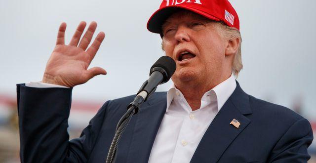 Arkivbild: På fredag – under WEF:s sista dag– svärs Donald Trump in som USA:s president. Evan Vucci / TT / NTB Scanpix