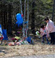 Minnesplats för offren. Andrew Vaughan / TT NYHETSBYRÅN