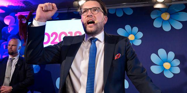Jimmie Åkesson (SD). Anders Wiklund/TT / TT NYHETSBYRÅN
