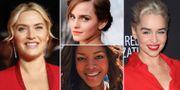 Kate Winslet, Emma Watson, Naomie Harris och Emilia Clarke. TT/flickr