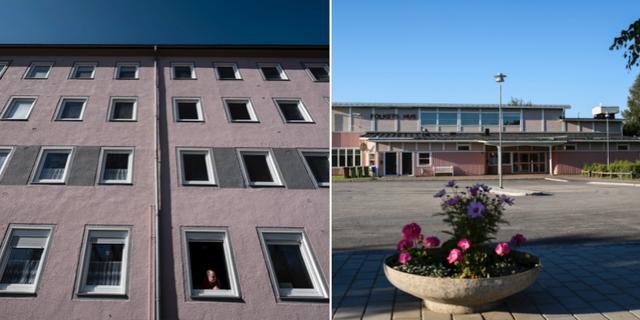 Arkivbilder på husfasad och folkets hus i Kalix kommun TT