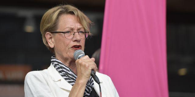 Gudrun Schyman (Fi). Jessica Gow/TT / TT NYHETSBYRÅN