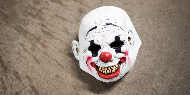 Illustrationsbild: Arrangerad bild av en clownmask. Masken på bilden är inte den som användes av 16-åringen. Pontus Lundahl/TT / TT NYHETSBYRÅN