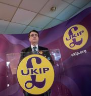 Gerard Batten, Ukips nyvalde ledare. OLI SCARFF / AFP