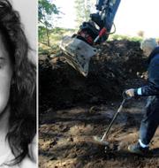 Helena Andersson/Polisen gräver efter kroppen 2004. TT