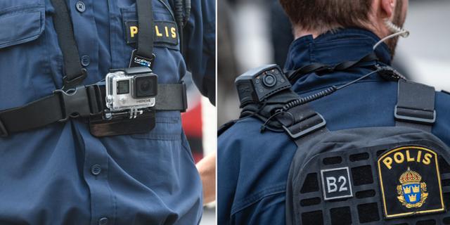 Poliser med kroppskameror TT