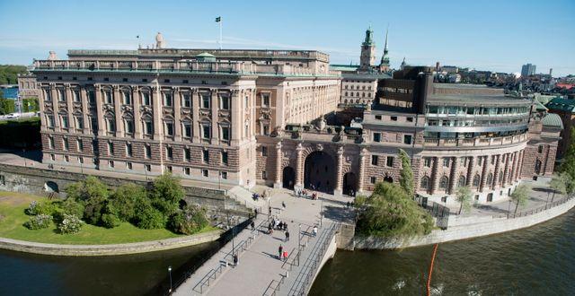 Riksdagshuset.  Jessica Gow/TT / TT NYHETSBYRÅN