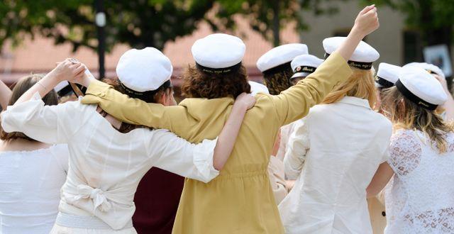 Arkivbild, elever som tar studenten. Henrik Montgomery/TT / TT NYHETSBYRÅN