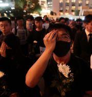 Demonstranter i Hongkong. Jae C. Hong / TT NYHETSBYRÅN