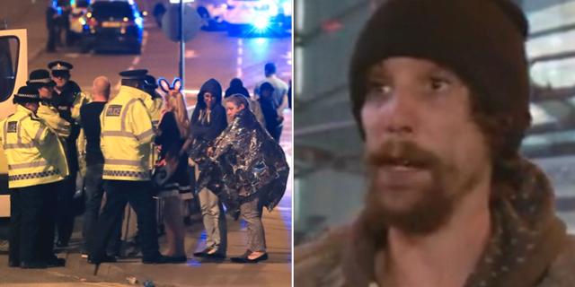 Polisinsatsen i samband med Manchesterattacken/Chris Parker intervjuas om sin insats TT/skärmdump