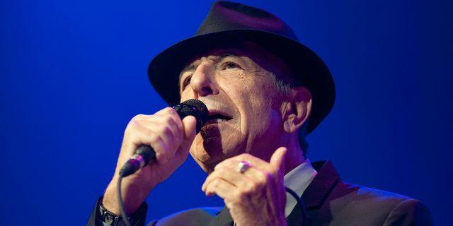 Leonard Cohen. Sandro Campardo / TT NYHETSBYRÅN