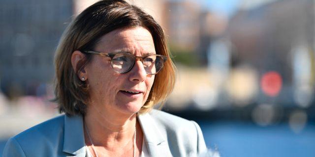 Isabella Lövin, språkrör för MP. Karin Wesslén/TT / TT NYHETSBYRÅN