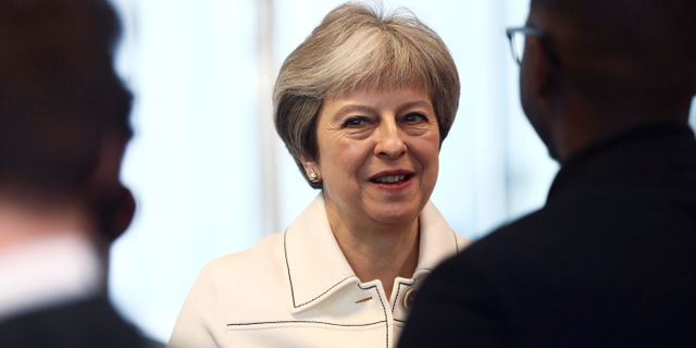 Theresa May.  Simon Dawson / TT / NTB Scanpix